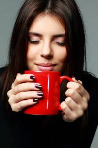 drinking hot cocoa